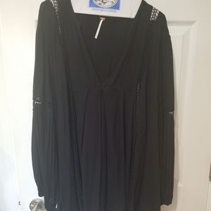 Free People Oversize Boho Black Dress M